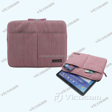 High quality nylon tablet sleeve with pockets, tablet sleeve 10 inch for samsung galaxy tablet PC