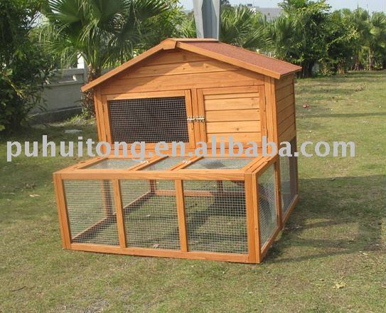 outdoor wooden rabbit house