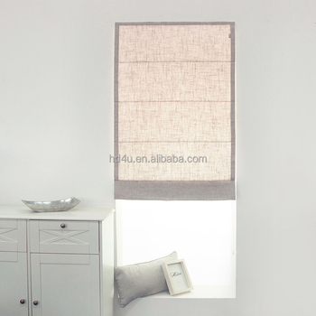 Ready made daylight cotton stripe roman blind cream