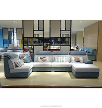 China Suppliers Wholesale Modern Furniture L-shaped corner sofa, sleeping sectional sofa set with chaise lounge