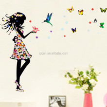 Sueño Color de la Princesa Mariposa Etiqueta de La Pared DIY Arte de La Pared DEL PVC Decal Wall Sticker Niños Habitación Etiqueta De La Pared Decorar
