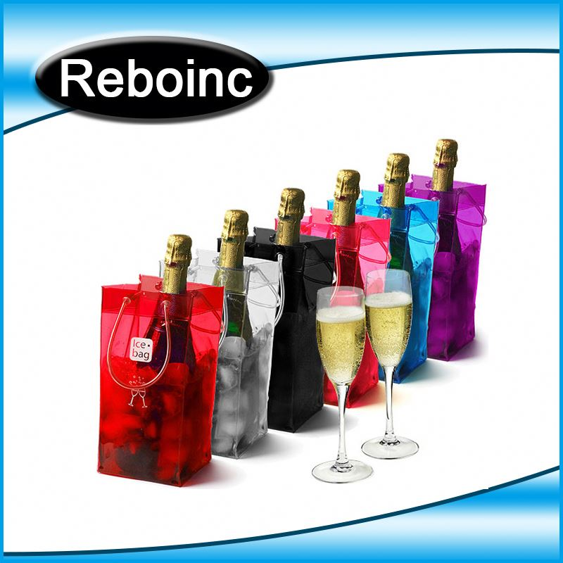 Wine Tote Bag PVC Plastic Bottle Cooler Tote Bag PVC Tote bag for Wine