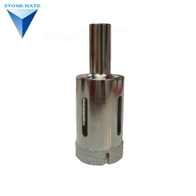vacuum brazed 40mm working length for hard rock diamond core drill bit