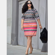 Hot cake printed casual short fat women dresses pictures