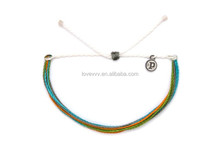2015 fashion rainbow color wax cord nylon string bracelet for friendship