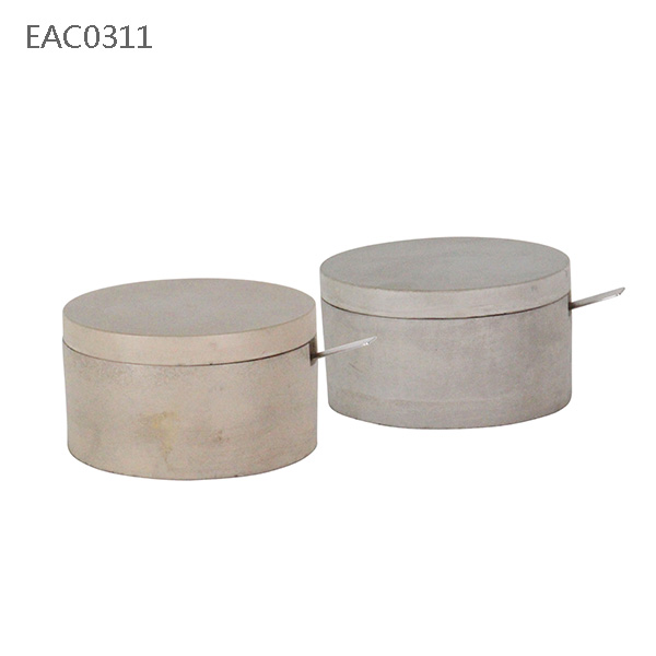 Natural cement /concrete box with wooden lid modern designs kitchenware /kitchen tool