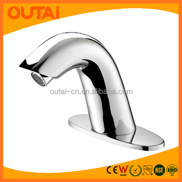 UPC Modern Solid Brass Contemporary Hand Wash Basin Mixer Automatic Bathroom Sensor Faucet