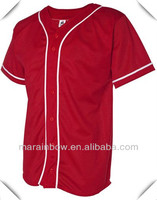 Blank design red color Pro-mesh Baseball Jersey tees