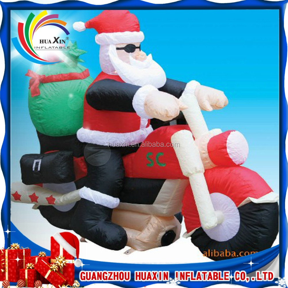 2016 hot sale inflatable santa claus , christmas decorating