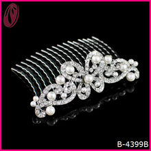 Factory Price Cheap Pear Crown Hair Comb For Bride Hairstyle