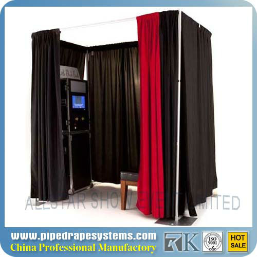 Portable used photo booth for sale -- Pipe and drape system