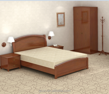Simple bed room furniture solid wood