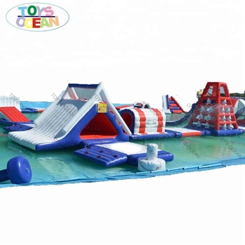 Fun kids Inflatable floating water park equipment sea ocean toys