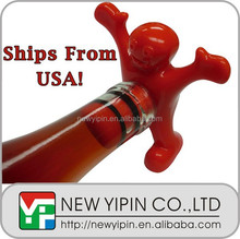 Happy Man Wine Bottle Stopper Wine Novelty Gag Adult Drinks Gift Fun Party NEW