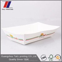Cheap custom printed disposable serving trays party food paper tray