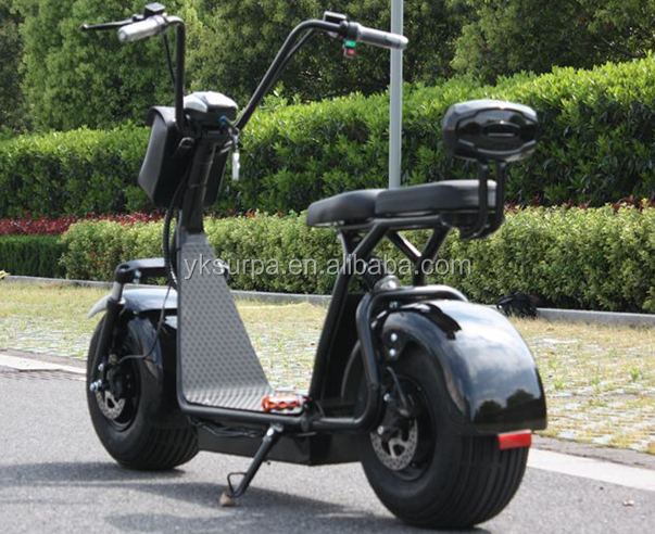 1000w /1500w 60V 72v 12ah 20ah lithium battery theftproof fat tire citycoco electric scooter with tail light/ brake turnal