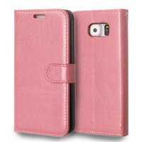 Magnetic Stand PU Leather Flip Cover Wallet Photo Frame Case for Samsung Galaxy S6