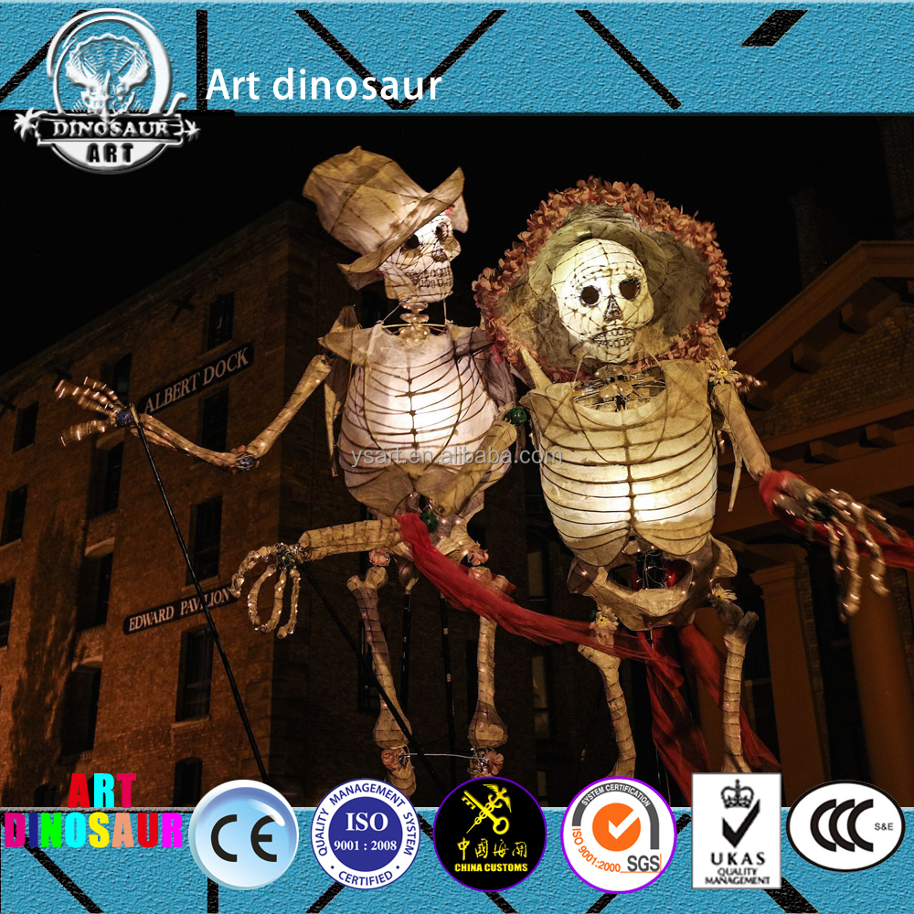 YS88C44 Carnival big Chinese shadow light.Festival Lantern. LED Light puppets to wear on human using a back.