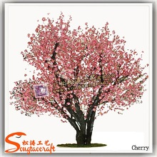 artificial flower forest trees,artificial fiberglass cherry blossom trees
