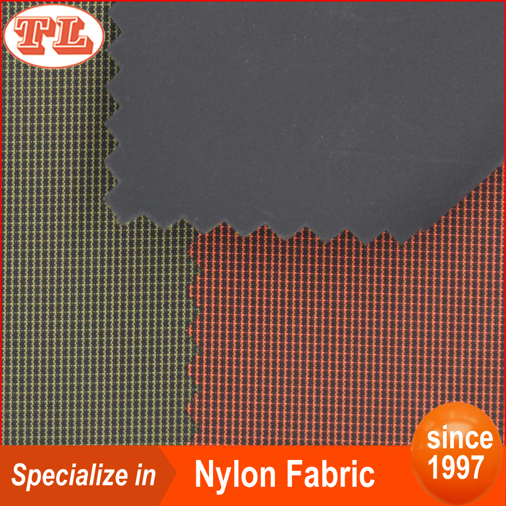 Superior 70D bi-color pattern nylon teffata fabric with PVC coated for inflatable boat