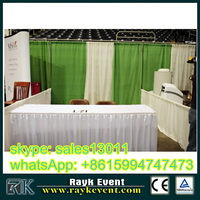 solutions for trade show booth exhibit display,pipe and drape kits for events,wedding, trade shows