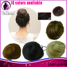 elastic small Hair bun synthetic round sphere Ball Hair Chignon Roller Ponytail Hairpieces 18colors available