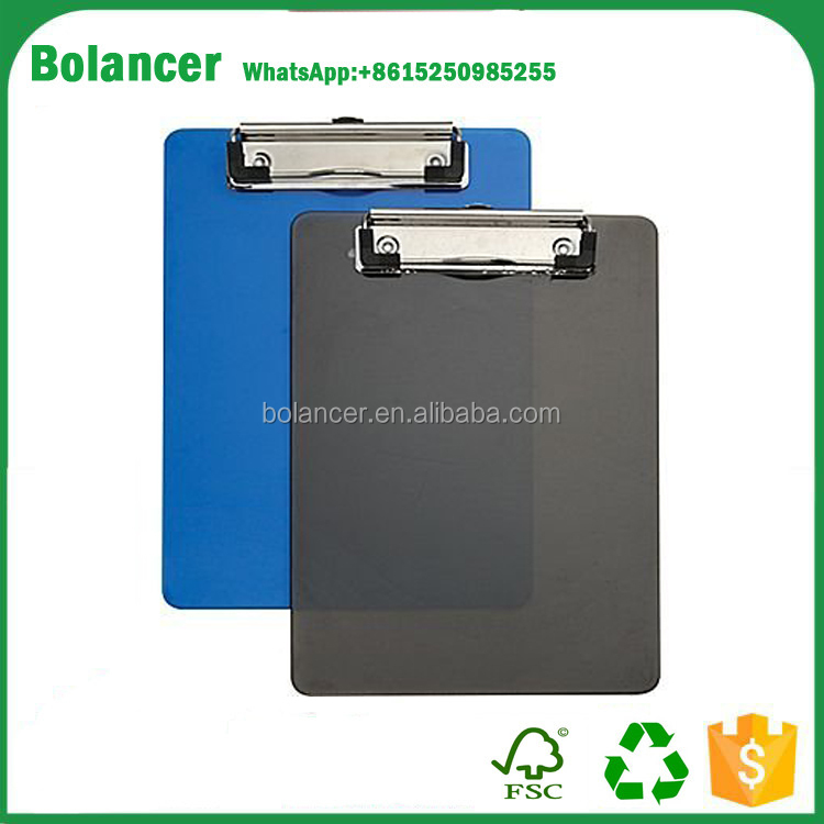 office stationery products customized a5 plastic menu clipboard