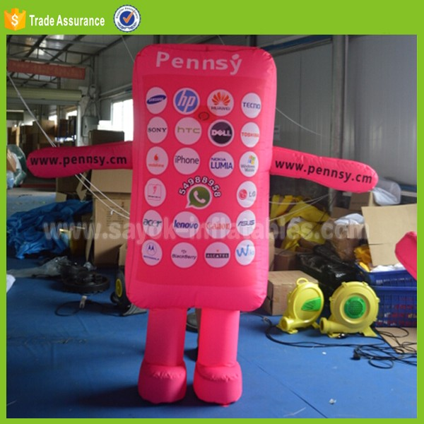 inflatable moving mobile phone cartoon model walk inflatable phone costume