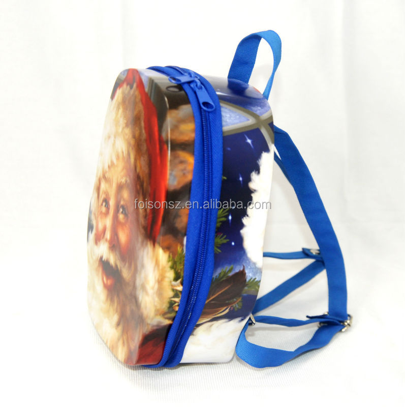 special backpack zipper tin box food packaging, cookie tin box
