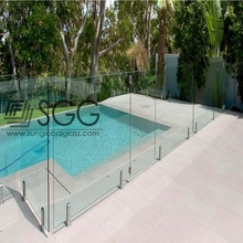 Custom Laminated balustrade railing glass tempered glass