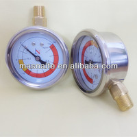 Naite digital vacuum pump pressure gauge with top mouthing