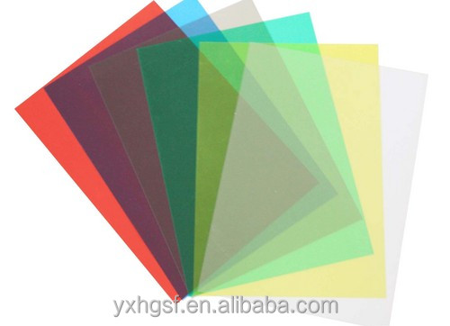 PVC binding cover transparent colour pvc plastic binding cover