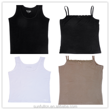 Stylish and Famous Top sales Modal or Organic singlet or vest with sleeveless for woman