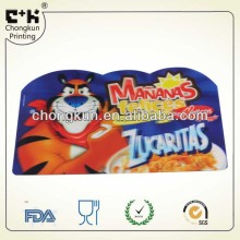 cartoon custom Advertising Printed die cut pp placemat for kids
