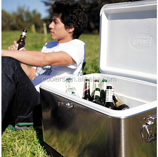high quality stainless steel ice cooler box 54QTcooler