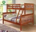 Hot sale Wooden Kids Triple Bunk Bed price with Ladder