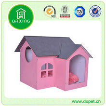 Addorable Pink 2-Room Pet House Dog Indoor Wooden House DXMP011