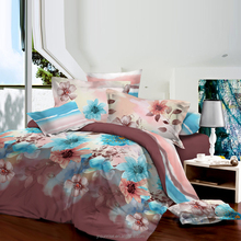 100 polyester bed sheet set fabric 3d bedding textiles duvet cover microfiber quilt pigment disperse printed fabrics