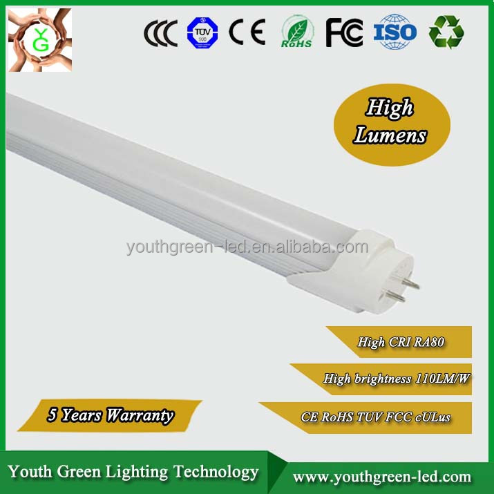 High quality 3-5 years warranty led energy saving light reb tube 18w 1200mm led tube light high lamp luminous efficiency