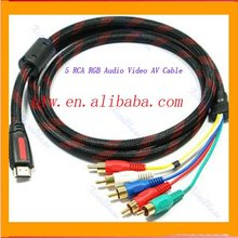 HDMI Male to 5 RCA Audio Video Cable