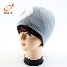 Custom fashion wool free knitting patterns animal hats baby plain beanie hat
