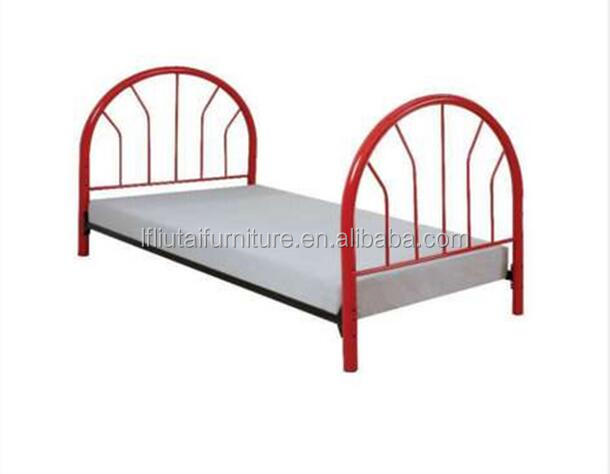 Saving space metal red kid beds Base Bedroom Double children Bed