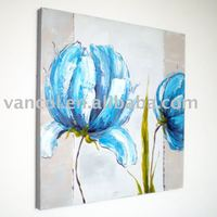 Wholesale flower canvas oil painting,handpainted impressionist modern flower oil painting on canvas