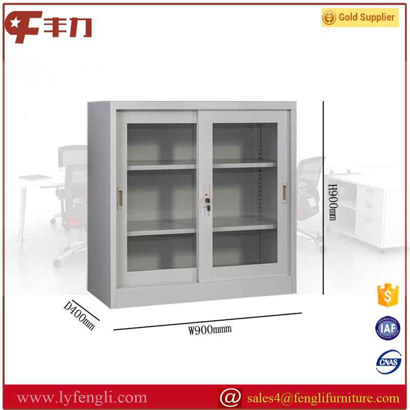 Half Height Cheap Storage Cabinet Steel Cupboard/Sliding Door Low Cabinet <strong>Metal</strong>