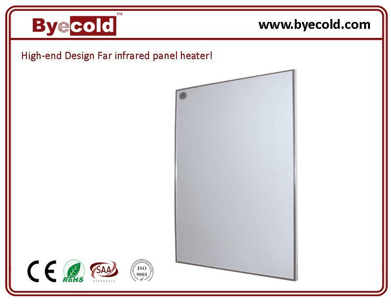 Hanging far infrared panel bathroom heating system