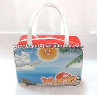 Handle pvc printing fashion all name brand handbags