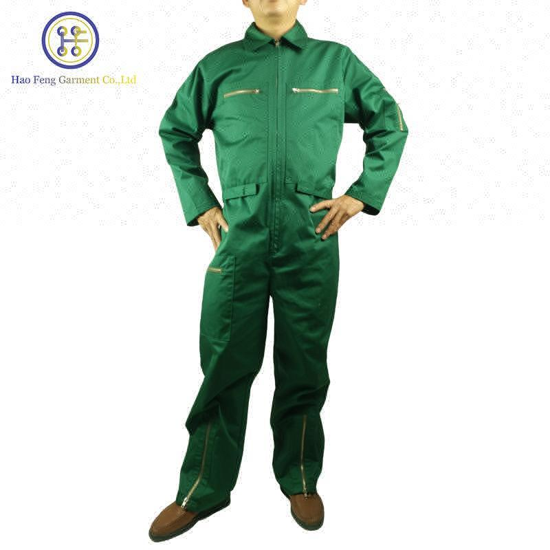 Wholesale OEM Mens Cotton Safety Pilot Aviation Coverall in Workwear , Airline Pilot Uniform