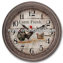 Antique Chicken Ball Wall Clock For Home Decor
