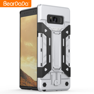 Kickstand card holder bumper for samsung note 8 phone cover shock proof,for samsung note 8 protective case