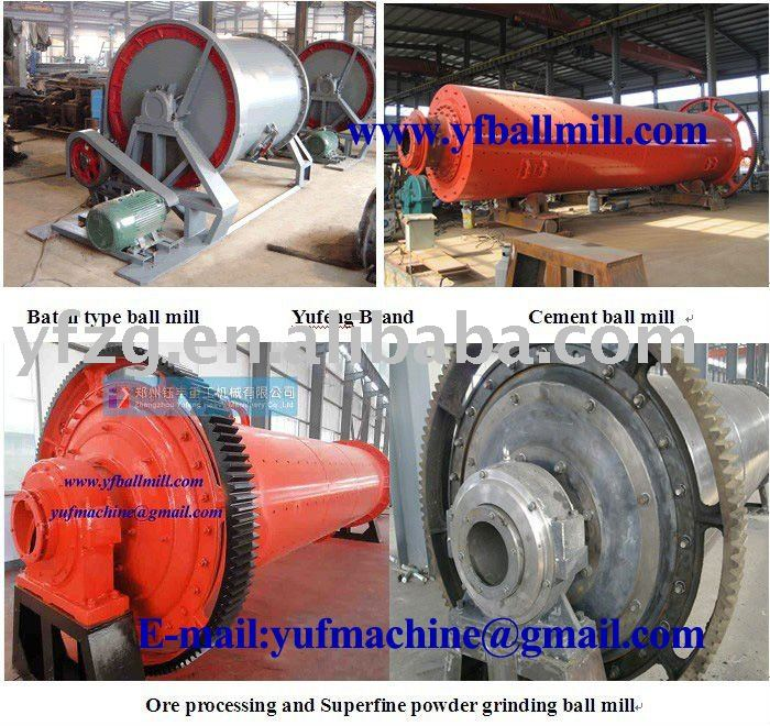 Ball Mill (5-200MT/Hr mineral processing plant) --Yufeng brand